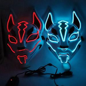 Быстрый Маски Доставка Tianhu Luminous Face Fox Halloween Party Cat Face Mask LED Карнавальная ночь маска маска для лица Показать F1102