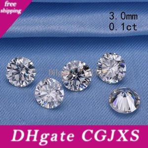 Pass Алмазный тестер 3 .0mm 0 .1ct Круглый Gh Brilliant Cut муассаниты Сыпучие камень для обручальных колец Хорошая цена S923