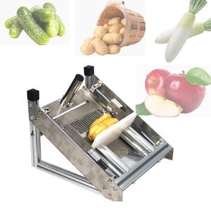 La venta de patata onda patatas fritas de corte de acero inoxidable de la máquina máquina de cortar Manual cuchillo ondular máquina comercial patatas fritas cortador