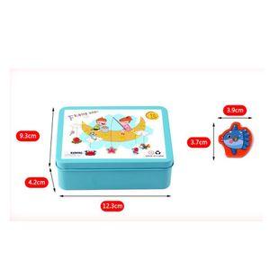 15pcs Baby-Spielzeug-Fisch aus Holz Magnetic Kindern Angeln Game Set Fish Game pädagogischen Spielzeug Wasser-Spiel-Baby-Angelruten-Spielzeug Mini