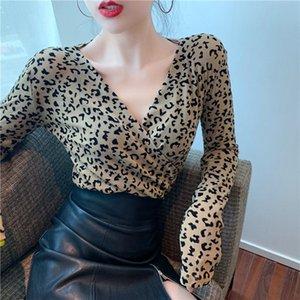 20200927 Autumn Leopard Print Long Sleeve T-Shirt women's 2020 new bottoming shirt