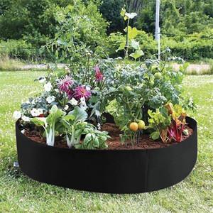 Black Round Garden Grow Bag Garden Jardin Jardim Jardinage Ogrod Raised Plant Bed Garden Flower Planter Elevated Vegetable Box