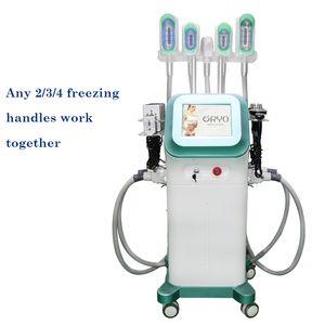 New design 5 fat freezing Cryolipolysis fat freeze Slimming Machine Cavitation RF Lipo Laser Slimming Machine weight loss