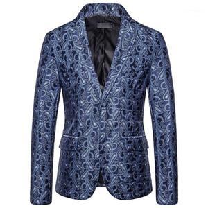 Boutonnage Hommes Blazers Designer Casual Mens Imprimé numérique Costumes Mode Hommes Outerwears avec