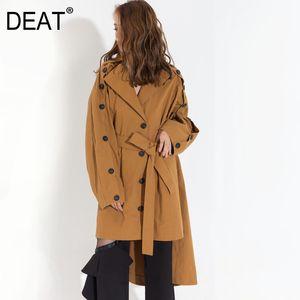 DEAT 2020 nuovo autunno maniche indietro classico turn-down collare colore kahki breasted aperto giuntati grandi dimensioni giacca a vento YA05207L