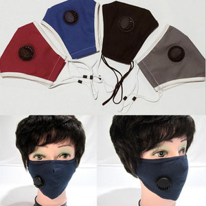pm2.5 Anti-dust and Anti-haze Mask with Breathing Valve for Men and Women Couples Riding Breathable Mask 4 Colors
