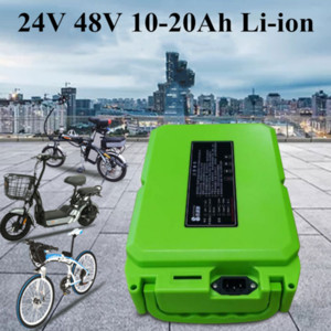 GTK 24V 48V 10Ah-30Ah lithium battery driving electric car modified bicycle bag lawn mower universal battery+2A Charger