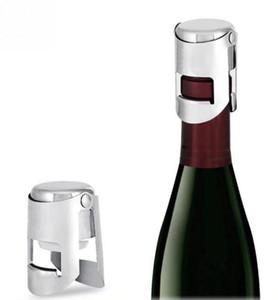 زجاجة سدادات الفولاذ المقاوم للصدأ النبيذ سدادات فراغ النبيذ يختم زجاجة الأغطية التوصيل الضغط أدوات نوع الشمبانيا كاب غطاء بار للنبيذ OWE1123