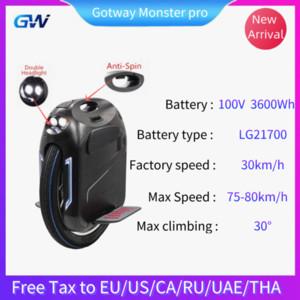 새로운 원래 Gotway 전기 스쿠터 100V 3600WH 최대 속도 75-80kmh 24 인치 프로 자기 스쿠터 프로