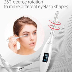 New Mini Electric Heated Eyelash Curler Eyelashories Electric Heated Makeup Eye Lashes Long Lasting Beauty for Beauty Gift Perm Heated Port