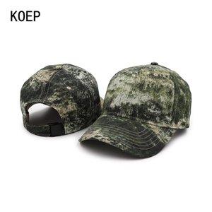 2018 Geliş Mountain Sport Av Koep Balıkçılık Kamuflaj Aralığı Yeni Cap 100 Pamuk Beyzbol Şapka Açık Ordusu hZybG Caps