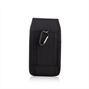 THINKTHENDO Phone Pouch Hanging Waist Storage Bag Fanny Pack Black Classic Belt Clip Pouch Case For iPhone Waist Bag