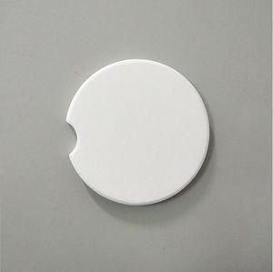 Sublimación Traslado en automóvil blanco Posavasos caliente impresión en blanco Cerámica Mats Consumibles Materiales Posavasos personalizable Figura Pads LSK1019