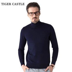 TIGER CASTLE Qualität Marke Herrenmode Mode Male Turtleneck Herbst Thin Ganzkörperansicht Männer Pullover Hombre