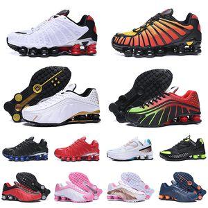chaussures nike shox tl nueva llegada OG R4 triple negro hombres mujeres zapatos para correr plataforma 301 entregar para hombre entrenador calzado deportivo zapatillas de deporte