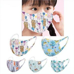 Kinder Karikatur druckte Gesichtsmaske Schutzbreath Resuable Mundschutz Kinder, Frühling, Sommer im Freien Waschbar Maske DDA255