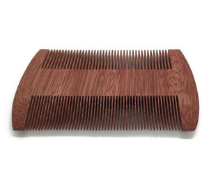 100pcs lot Fast shipping Custom Logo Blank Amoora Wood Comb Beard Comb Double-edged Fine-toothed Comb10cm Length wood Comb