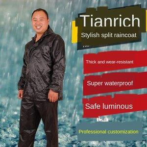 RC8z8 Wandern Schutz Regenmantel und regen Hose erwachsene Split-Single-Layer-Regenmantel Anzug Baustelle Arbeitsschutz reflektierende