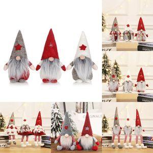NEW 크리스마스 장식 유럽과 미국 스타일의 숲 얼굴없는 여자 아기 수염 노인 인형 윈도우 디스플레이 어린이 장난감 T50051