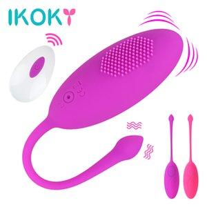 Ikoky vibrazione per le donne Sexy Shop di salto Uovo punto G massaggio Kegel sfera Vagina Clitoride Vibratore Telecomando