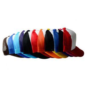 10 PCS Lot Sublimation Blanks Trucker Hat Advertising Custom Adult Cotton Baseball Mesh Hat For Sublimation Machine
