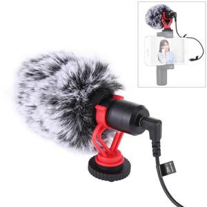 PULUZ métal microphone avec câble audio 3,5 mm pour Huawei Smartphone pour Canon Nikon Sony DSLR appareil photo caméscope Consumer