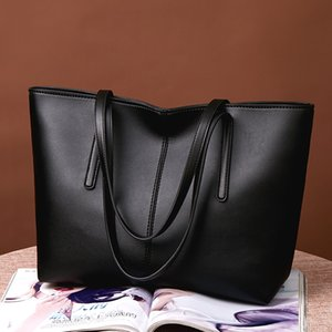 New Style Fashionable Simple Versatile Large Capacity Tot Hand Bill of Lading Shoulder Tote Bag Pu