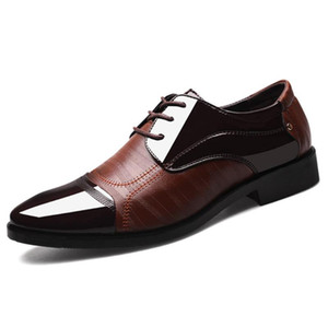 Business Ballroom Pointed Men Leather Shoes Wedding Dance Large Size Latin Prom Sports