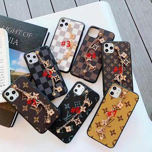 Cgjxsluxury Designer Case Golden Brand Bracelets For Iphone 11 Pro Max 7 8 Cell Phone Accessories Pu Leather Cases