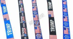 Donald Trump 2020 Longes téléphone mobile ruban sangles Porte-clés anneau avec carte de crédit en métal clip Bus Cordes Porte-clés Sac Pendentifs D81708