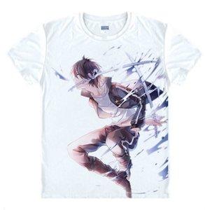 Noragami Aragoto Yato camiseta animado japonés cosplay transpirable camiseta casual hombres de las mujeres camisetas