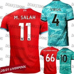 Fast Shipping LVP 20-21 Lİverpool FC Men Home Red Soccer Jersey with Sock S-2XL MANE M.Salah Virgil FIRMINO A.BECKER HENDERSON
