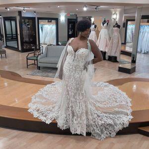 Уникальные дизайнерские свадебные платья 2021 плюс размер арабский арабский ASO EBI роскошный кружевной бисером свадебные платья без спинки обертки русалка свадебная одежда
