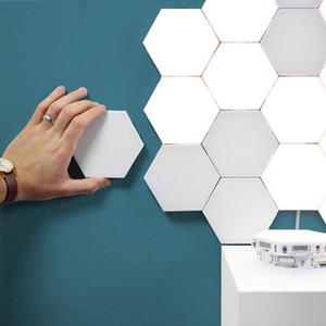 Modern 3W LED Wall Lights Quantum Touch Lamp Touch Sensitive Lighting LED Sconces Magnetic Creative DIY Indoor Living Room Decor
