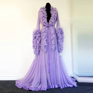 Night Robe Purple Maternity Dress for Photoshoot or Babyshower Tiered Ruffle Pregnant Women Dresses Prom Dress Evening Gowns