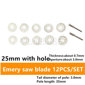 Multi-specification 8-hole Electric Grinding Accessories Set Diamond Saw Blade Glass Cutting Blades Emery Saw Blade