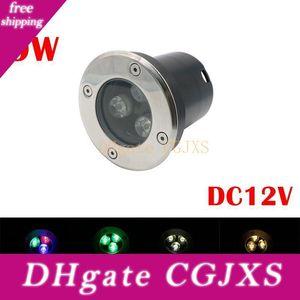 للماء IP67 LED RGB تحت الأرض الخفيفة DC12V 9W 3 * 3W الصمام دفن ضوء تحت الأرض مصباح راحة 100 80mm و* لبركة بركة