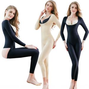 À manches longues salopette lâche corset corps chaud (7873 Body Shaping jumpsuit corps de mise en forme salopette # chaud) sxKh3