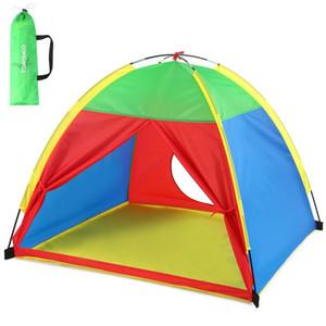 TOMSHOO Kamp Çadırı Taşınabilir Çocuk Çocuk Oyun Çadırı üç veya daha fazla Kapalı Çocuk Açık Suya dayanıklı Bahçe Oyuncak