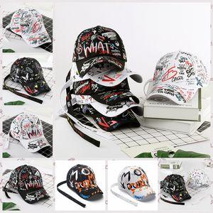 Gorra de béisbol 8styles pintada de la cola larga de hip-hop sombrero de moda al aire libre pintada casquillos del Snapback Hip Hop Partido Sombreros GGA3664