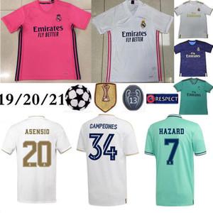 20 21 Real Madrid # 7 PELIGRO camiseta de fútbol 2019 de la calidad tailandesa superior camisa MODRIC Marcelo hombre de fútbol soccer jersey BALA ASENSIO Tercera equipación