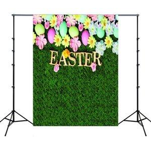 1.5m x 2.1m Easter Egg Retour fête Arrangement Parti arrière-plan Photo Tissu