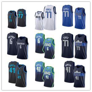 DallasMaverick Men Luka Doncic Dirk Nowitzki Kristaps Porzingis 2020 Basketball Jersey Stitched S-XXL Stock