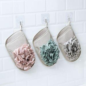 Bath Glove Exfoliating Bath Flower Double-sided Bath Towel Shower Body Cleaning Tool Wholesale Free Shipping WB2585