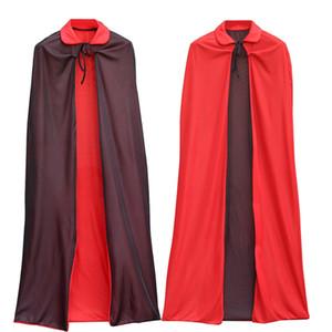 1,4 millones de Halloween del cabo del capote de la bruja Asistente Capas Capes Negro rojo del vampiro de Halloween del cabo del capote de lujo del partido del vestido del traje Material AHE803