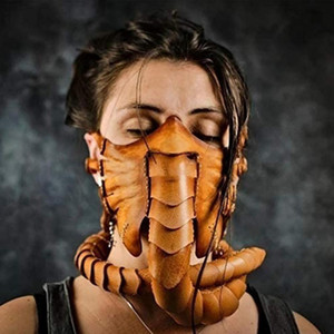 2021 Halloween Horror Prop Rubber Half Face Facehugger Scary Scorpion Mask