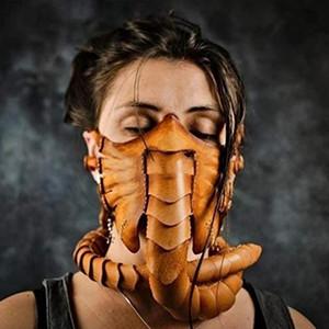 2021 Halloween Horror Prop caoutchouc moitié visage Facehugger Masque Scary Scorpion