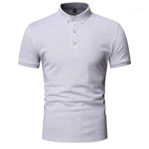 Designer Polos Mens Luxury Polos Summer Short Sleeve Lapel Neck Solid Color Slim Fit Clothes Homme