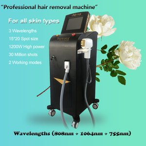 Top Quality 3 Wavelength 808nm permanent fiber coupled Diode rf nd yag hair laser professional hair removal machine