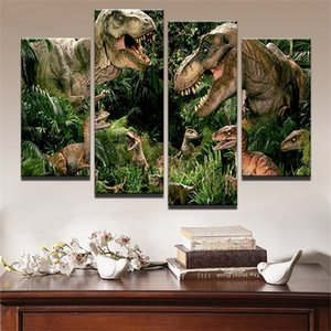 full square round drill set diy diamond painting 4 pcs Dinosaurs Forest Movie 5d diamond mazayka embroidery kids room decor 0924